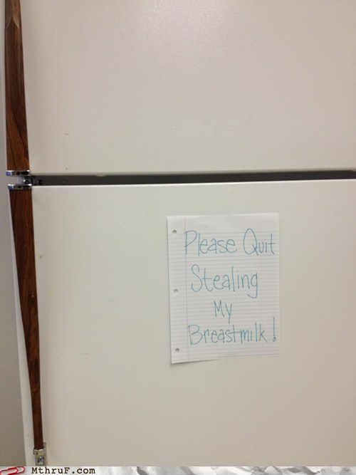Babies breastmilk office fridge stealing from the office fridge - 5774242560