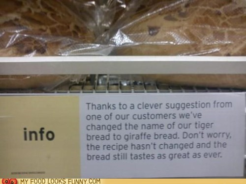 bread customer giraffes info name sign store tiger - 5774297600