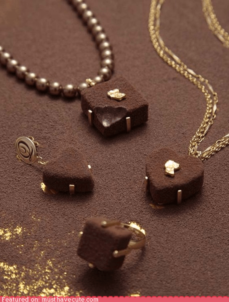 chocolate epicute Jewelry sweets Valentines day - 5774315008
