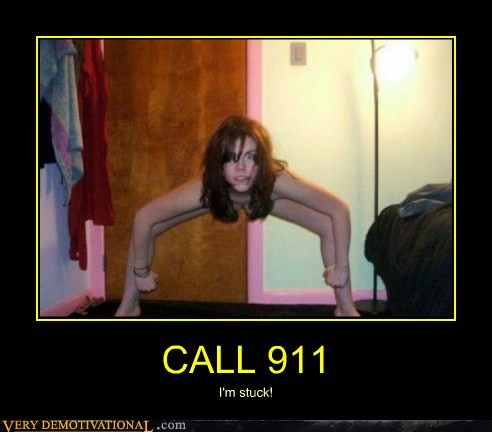 911 hilarious lady stuck wtf - 5774344192