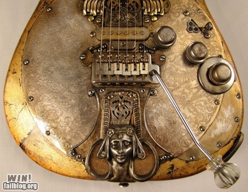 design gilded g rated guitar instrument Music Steampunk win - 5774366976