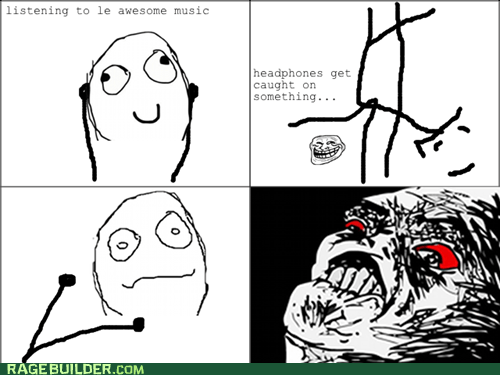 headphones Music Rage Comics raisin rage - 5774515712