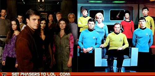Battle,cancelled,Captain Kirk,captain malcolm reynolds,captains,tv shows,vs
