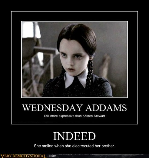 hilarious,indeed,twilight,wednesday addams
