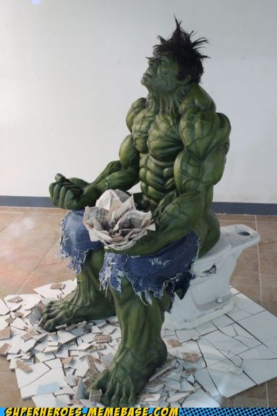 art,hulk,pooping,Random Heroics,sculpture