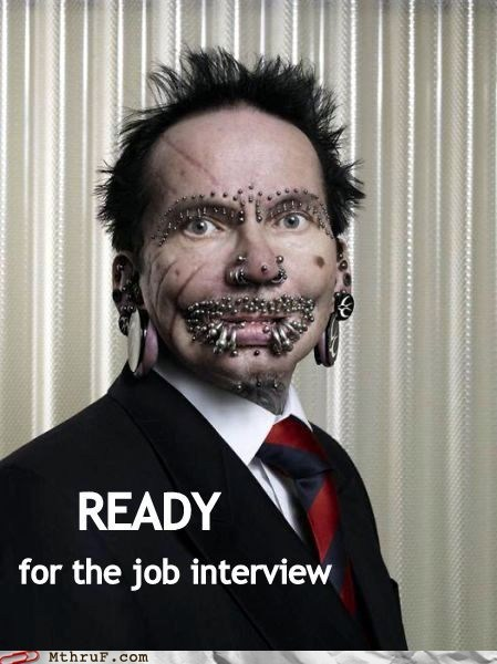 first impression job interview piercings professional