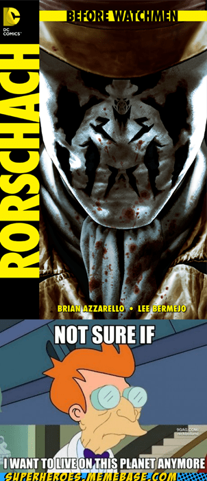 before watchmen,rorschach,Straight off the Page