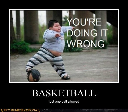 basketball fat kid hilarious one ball - 5775485184