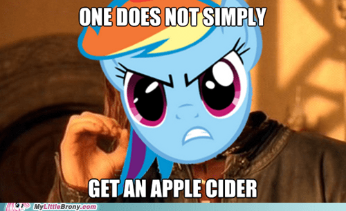 apple cider,meme,one does not simply,rainbow dash