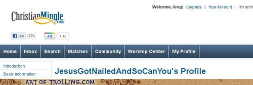 christian mingle jesus nailed ouch