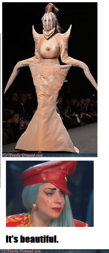 fashion,haute couture,lady gaga,runway,weird