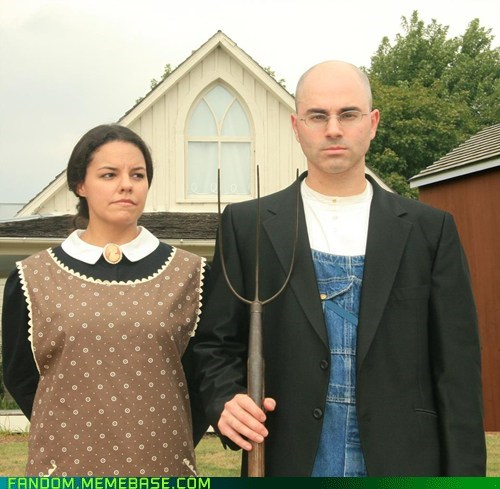 american gothic cosplay grant wood painting - 5776774656