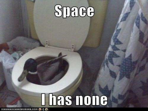 duck space toilet pond i has it none