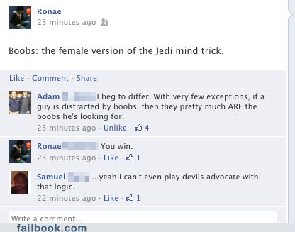 breasts good point jedi mind trick