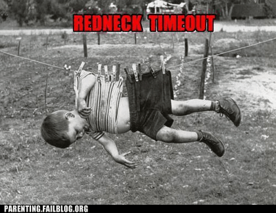 clothesline,redneck timeout,rednecks,tractor