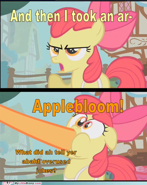 apple bloom arrow to the knee meme overused Skyrim - 5778208512
