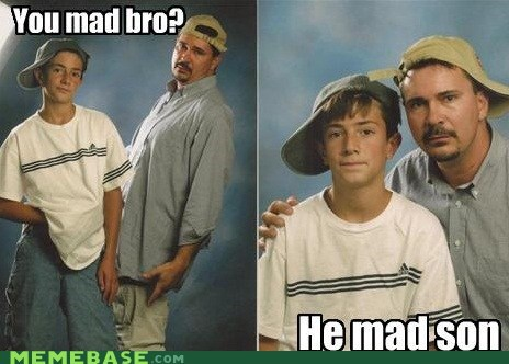 dad kids mad son troll face