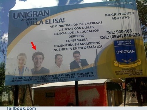billboard Mark Zuckerberg pic spanish wtf - 5778284800