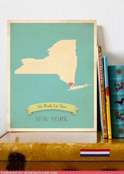 art heart home map print - 5778332416