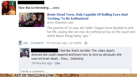 brain dead facebook stupid teen