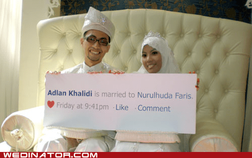 bride facebook funny wedding photos groom Hall of Fame - 5778567936