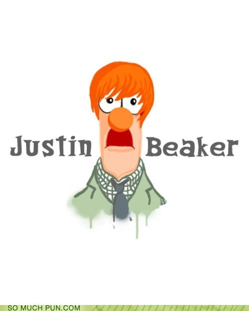 baby beaker Hall of Fame justin bieber juxtaposition literalism lyrics mashup muppet similar sounding song the muppets - 5778568704