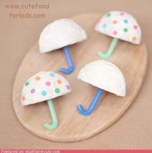 cupcakes epicute snack straw sweets umbrellas - 5778642432
