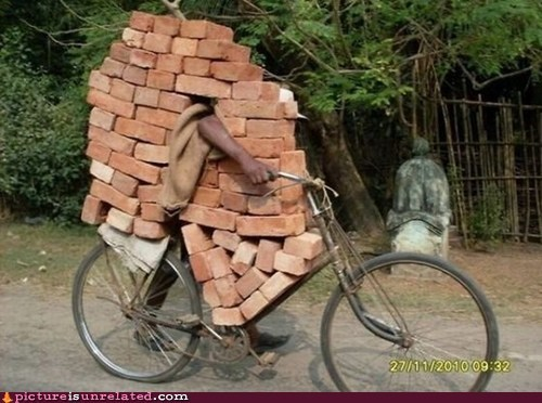 bicycle,bricks,mister bond,wtf