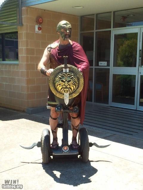 300 costume driving modification segway sparta