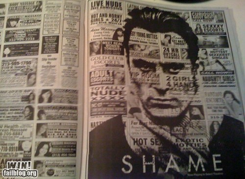 Ad,clever,michael fassbender,Movie,shame