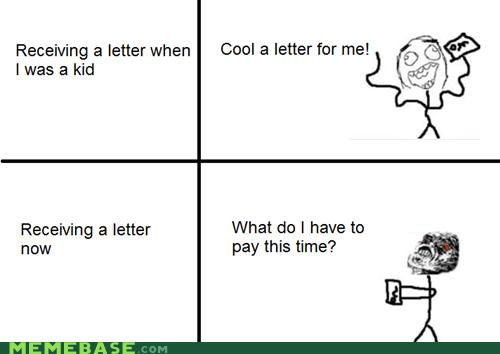adult kids letter mailbox Rage Comics - 5778929408