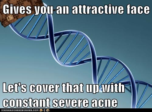 acne diamond face genes Scumbag Steve - 5779026944