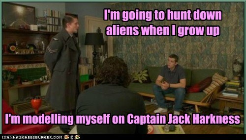 aidan turner,alien,being human,Captain Jack Harkness,George,mitchell,russell tovey