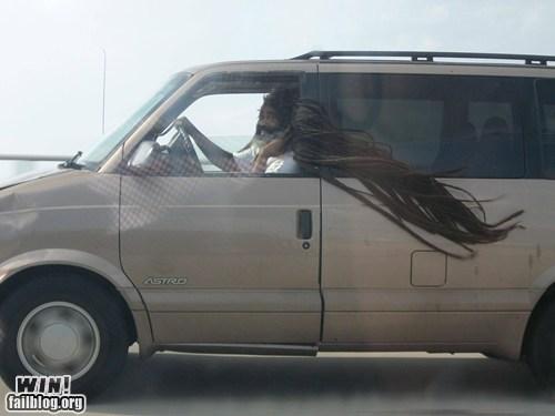 car dreads driving fashion hair - 5779340800