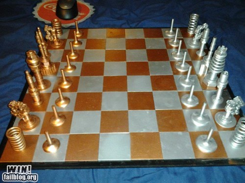 board game,car parts,chess,design,recycle