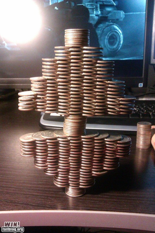 balance coin money quarters stacking - 5779354624