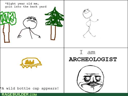archeology,bottle cap,me gusta,Rage Comics