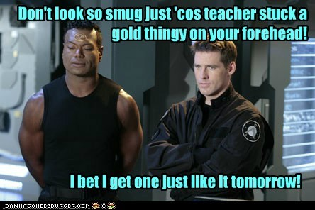 ben browder Cameron Mitchell christopher judge gold star kids school sg-1 Stargate teacher tealc - 5779451392