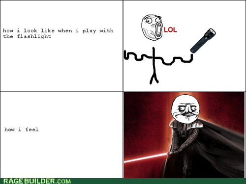 expectations vs reality,flashlight,how i feel,light saber,Rage Comics