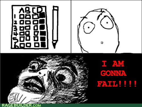 FAIL Rage Comics raisin face test truancy story - 5779523328