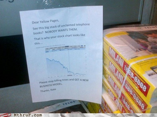 outdated business model,phone books,yellow pages