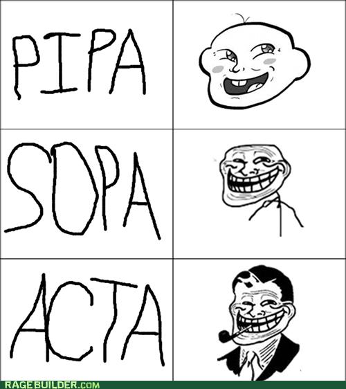 Acta PIPA Rage Comics SOPA troll dad - 5779672064