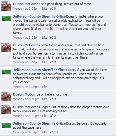 Creep of the Week,Criminally Dumb Criminal,Dustin McCombs,Jefferson County,sign of the times
