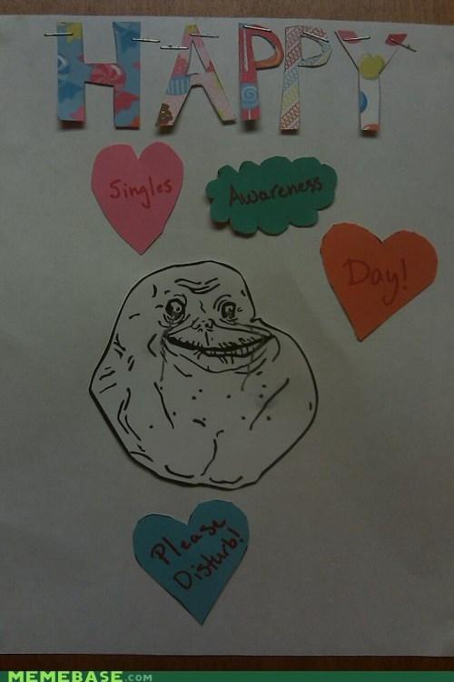 awareness door forever alone knock singles Valentines day - 5780157184