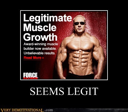 Ad hilarious muscles seems legit wtf
