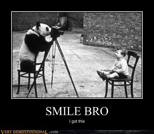 baby hilarious panda smile wtf - 5780285952