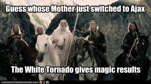 aragorn commercial gandalf the white labyrinth legolas magic mother orlando bloom - 5780369664