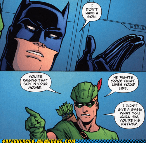 batman,green arrow,robin,son,Straight off the Page,wtf