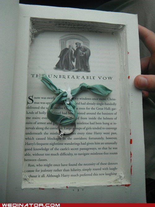 funny wedding photos Hall of Fame Harry Potter proposal ring - 5780560128