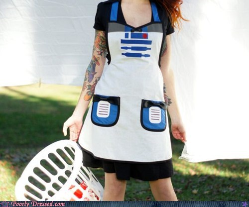 apron laundry r2d2 r2-d2 star wars - 5780809728